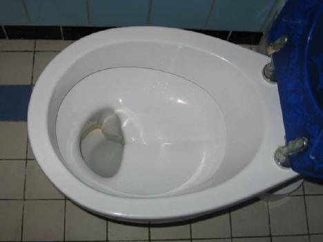 German Shelf Toilet