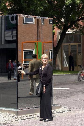 Mirror Toilet - Outside