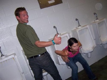 Drunk Girl Urinal