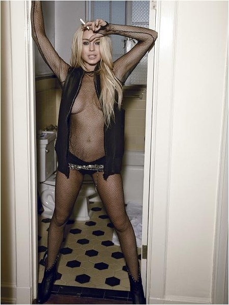 Lindsay Lohan Muse Toilet Photo Shoot